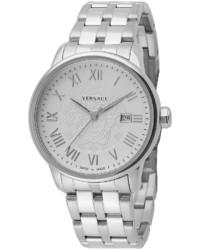 Versace Business Stainless Steel Bracelet Watch Silver