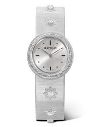 Buccellati Macri 24mm 18 Karat White Gold And Diamond Watch