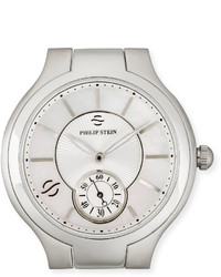 Philip stein stainless steel small round watch head mother of pearl medium 3733637