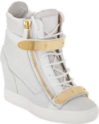 White wedge sneakers original 1592457