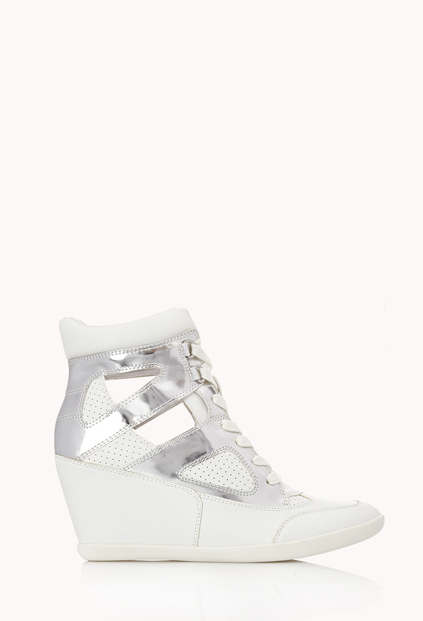 ... Forever 21 Clear Cut Wedge Sneakers ... f114b60a4