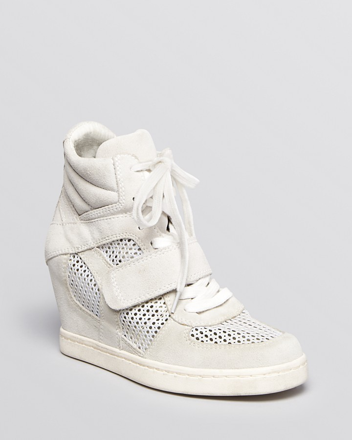 Ash Lace Up Wedge Sneakers Cool Mesh