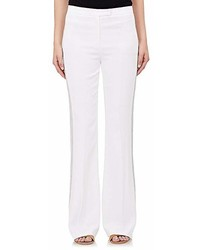 Edun Embroidered Crepe Flared Trousers