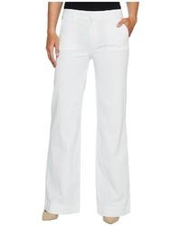 Hudson Joplin Wide Leg Trousers In White Jeans
