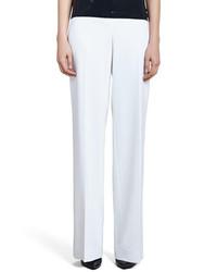 St. John Collection Diana Stretch Wide Leg Pants White