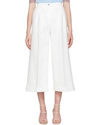Fendi White Pinch Trousers