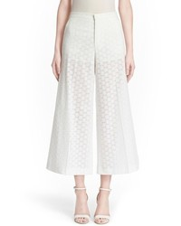RED Valentino Wide Leg Sangallo Lace Pants