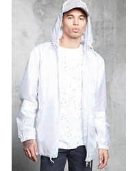 21men 21 Iridescent Hooded Windbreaker