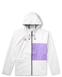 Nike Acg Packable Hooded Two Tone Nylon Jacket