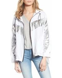 Blanknyc metallic stripe windbreaker jacket medium 6988599