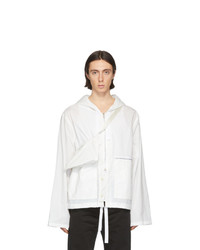 Maison Margiela Off White Recycled Nylon Sports Jacket