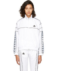 Ssense white oversized windbreaker track jacket medium 4413066