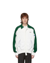 Ader Error White And Green Tortog Jacket
