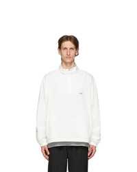 Chemist Creations White Half Zip Track Jacket