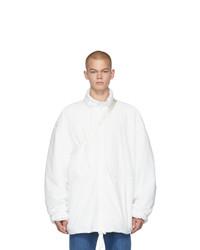 Maison Margiela White Hooded Windbreaker Jacket