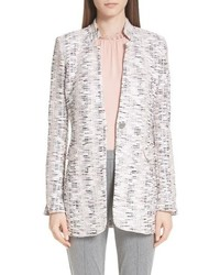 St. John Collection Space Dyed Overlay Plaid Knit Jacket