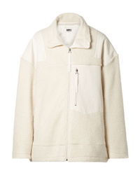 MM6 MAISON MARGIELA Ed Wool Blend Fleece And Canvas Jacket