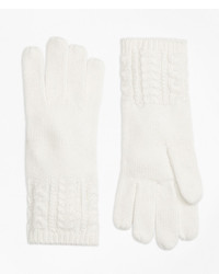 Brooks brothers aran knit gloves medium 987654