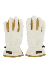 Polo Ralph Lauren Tan And Off White Sherpa Outdoor Touch Gloves
