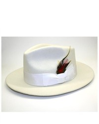 Ferrecci Off White Wool Fedora Hat