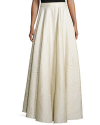 The Row Lea Textured A Line Maxi Skirt White Rose