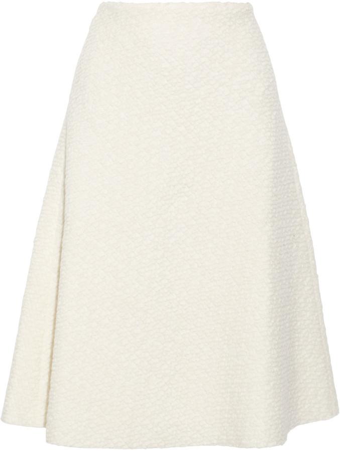 0457b02b3a Raoul Amelia Textured Wool Blend Skirt, $99 | theOutnet | Lookastic.com