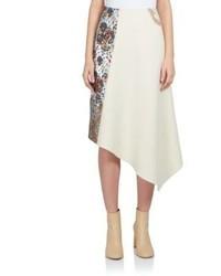 Stella McCartney Belinda Patchwork Asymmetrical Midi Skirt