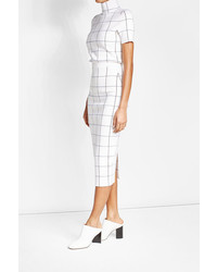 Victoria Beckham Wool Blend Pencil Skirt