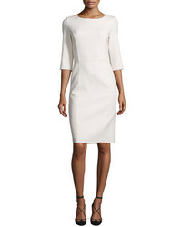 White Wool Sheath Dress