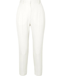 Alexander McQueen De Poudre Wool Slim Leg Pants