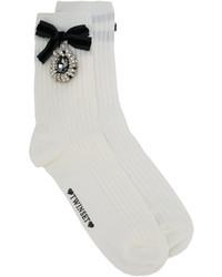 Twin-Set Embellished Bow Socks