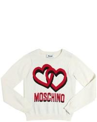 Moschino Hearts Cotton Wool Jacquard Sweater