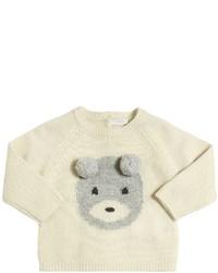 Il Gufo Bear With Pompoms Merino Wool Sweater