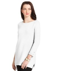 Charter Club Petite Three Quarter Sleeve Tunic Sweater