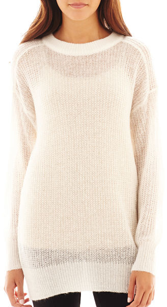 MNG by Mango Long Sleeve Fuzzy Tunic Sweater | Where to buy & how ...