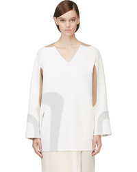 Marc Jacobs White V Neck Wool Tunic