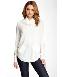 Olivia Sky Cowl Neck Shirttail Tunic