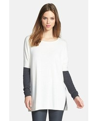 Trouve Side Slit Tunic Sweater