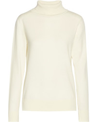 The Row Caya Merino Wool And Cashmere Blend Turtleneck Sweater Ivory