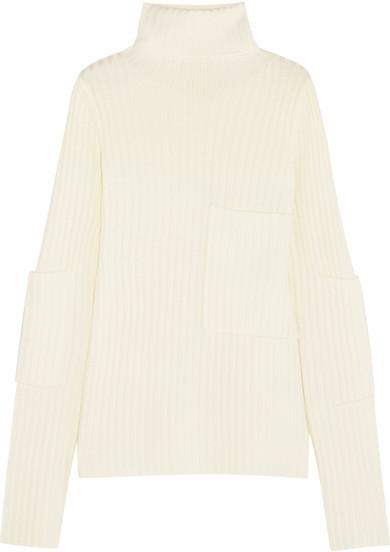 c41aa1640bff2e Joseph Ribbed Knit Turtleneck Sweater Off White, $395 | NET-A-PORTER ...