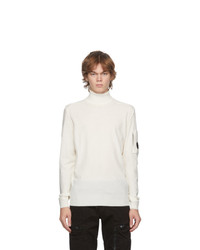 C.P. Company White Virgin Wool Turtleneck