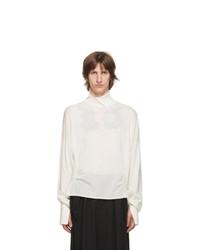 Sulvam White Wool High Neck Sweater