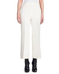 Fendi Wool Silk Gazar Wide Leg Trousers
