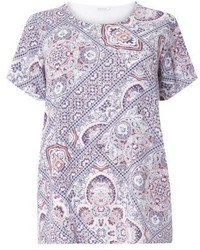 Evans Plus Size Woven Front Cutabout Top