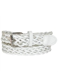 CTM Girls Woven Metallic Belt