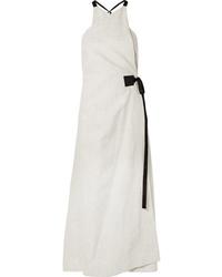 Rosetta Getty Med Tweed Wrap Dress