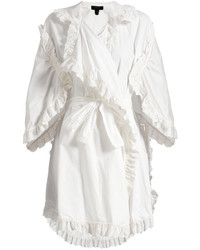 Burberry Ruffled Broderie Anglaise Cotton Wrap Dress