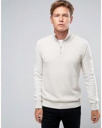 Boss Orange By Hugo Boss Kwemare Half Zip Sweater Rib Neck Knit