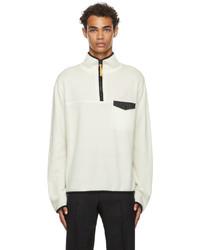 Jil Sander Off White Cashmere Zip Up