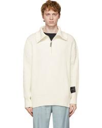 Stolen Girlfriends Club Off White Elevator Half Zip Polo Sweater